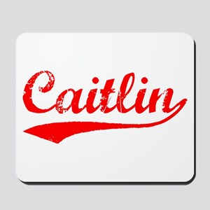 Vintage Caitlin (Red) Mousepad