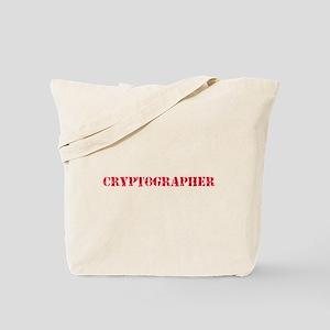 Cryptographer Red Stencil Design Tote Bag