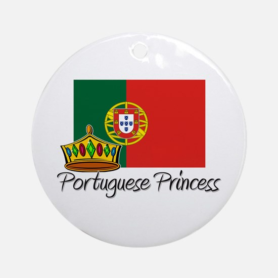 Portuguese Princess Ornament (Round)