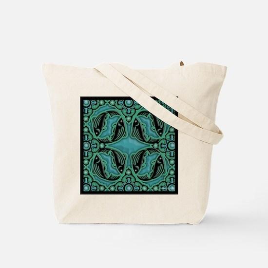 Seasonal Zebrafish Art Tote Bag