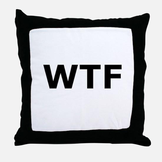 WTF Throw Pillow