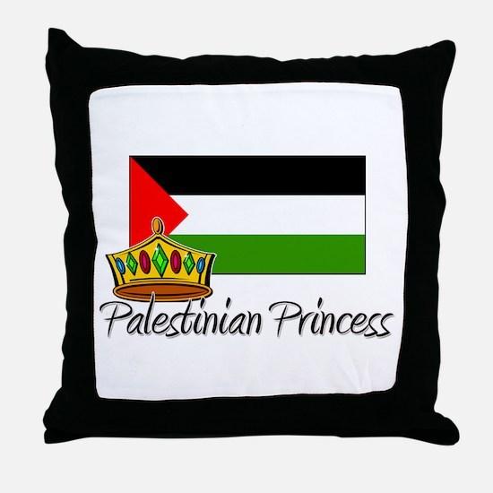 Palestinian Princess Throw Pillow