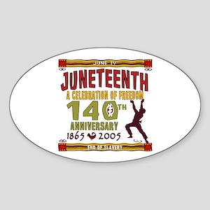 Juneteenth - 140th Oval Sticker