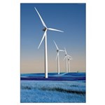 Turbines in Winter Poster
