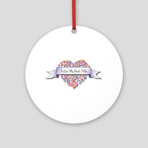 Love My Bank Teller Ornament (Round)