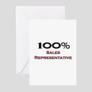 100 Percent Sales Representative Greeting Cards (P