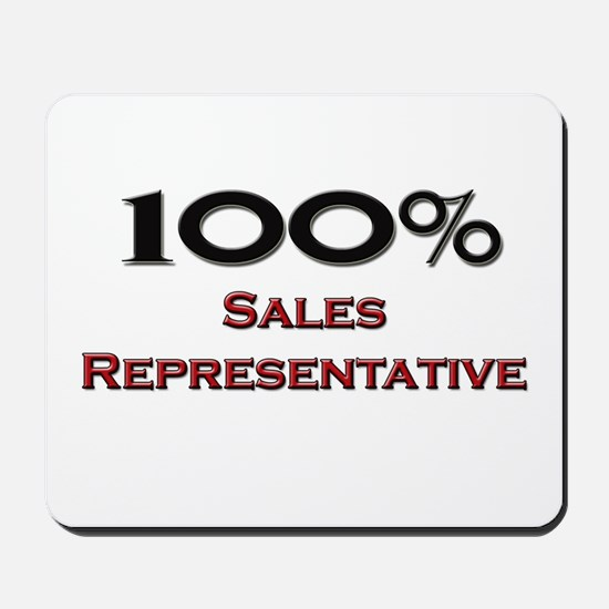 100 Percent Sales Representative Mousepad