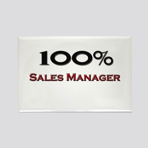 100 Percent Sales Manager Rectangle Magnet
