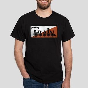 Train Logo On White And Orange T-Shirt