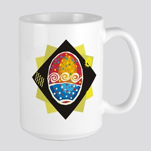 Party Painted Easter Egg Large Mug