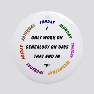 Genealogy Everyday Ornament (Round)
