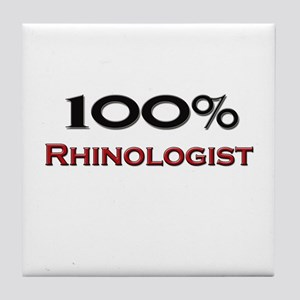 100 Percent Rhinologist Tile Coaster