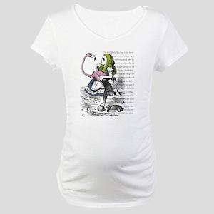 Alice In Wonderland Maternity T-Shirt