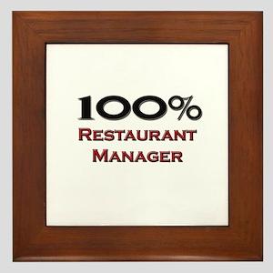 100 Percent Restaurant Manager Framed Tile
