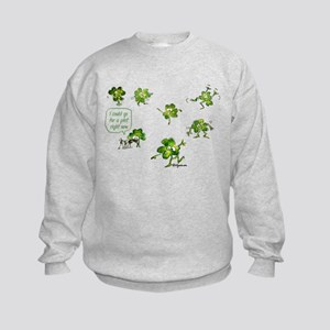 Dancing Shamrocks Kids Sweatshirt