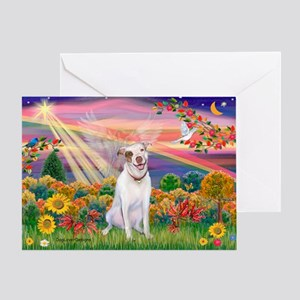 Autumn Angel / Pit Bull Greeting Card