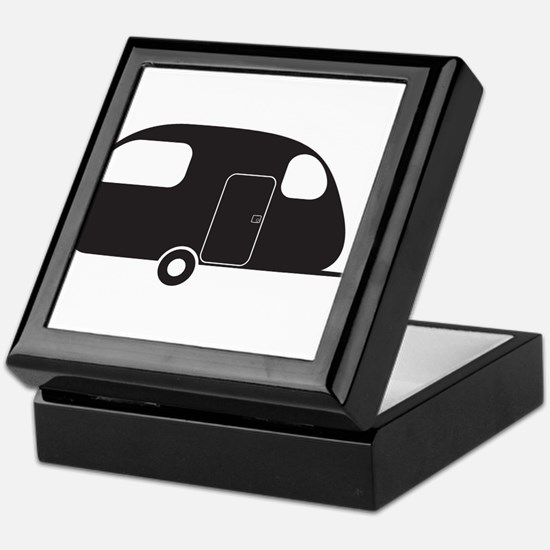 Small Caravan Silhouette Keepsake Box