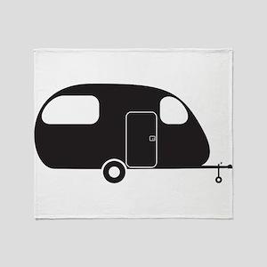Small Caravan Silhouette Throw Blanket