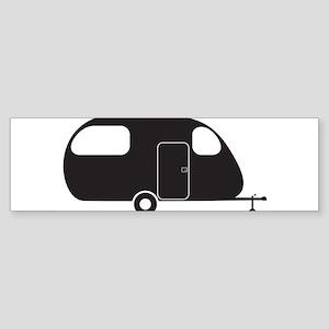 Small Caravan Silhouette Bumper Sticker