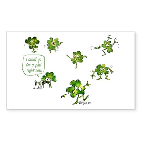 Dancing Shamrocks Rectangle Sticker