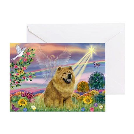 Cloud Angel & Chow Chow Greeting Cards (Pk of 20)