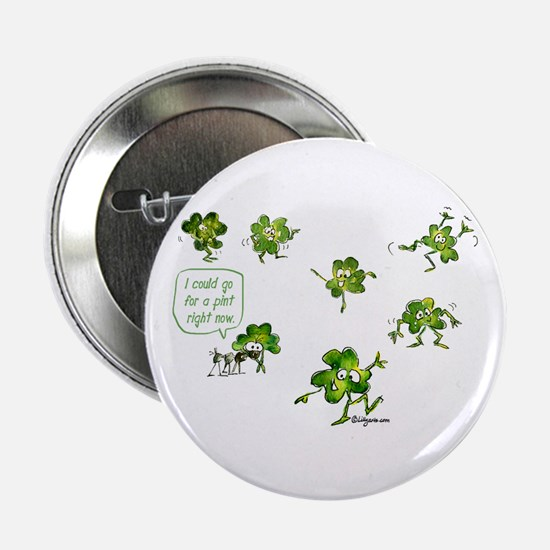 "Dancing Shamrocks 2.25"" Button"