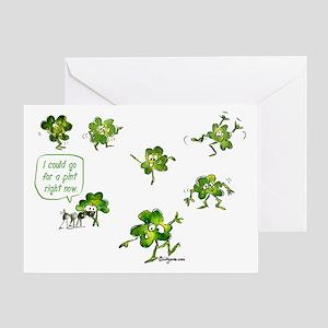 Dancing Shamrocks Greeting Card