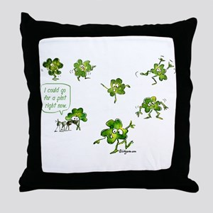 Dancing Shamrocks Throw Pillow