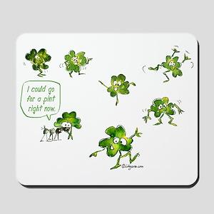 Dancing Shamrocks Mousepad