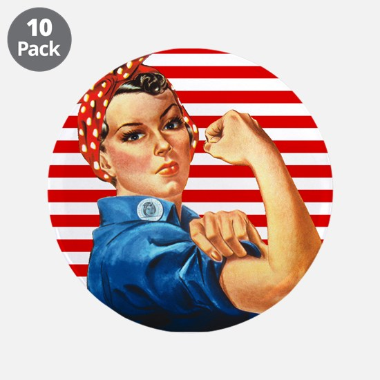 "Rosie the Riveter 3.5"" Button (10 pack)"