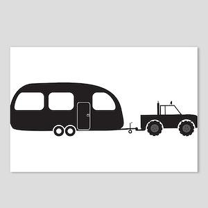 Caravan And 4x4 Silhouett Postcards (Package of 8)