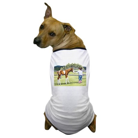 Girl with foal Dog T-Shirt