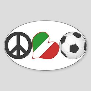Italian Soccer Fan Sticker