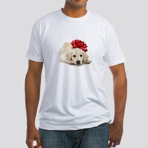 Yellow Lab Puppy Fitted T-Shirt