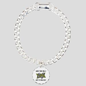 Grab Your Balls Bocce Charm Bracelet, One Charm
