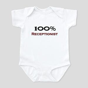 100 Percent Receptionist Infant Bodysuit