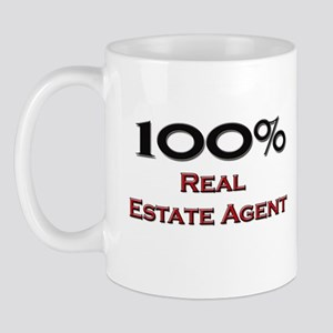 100 Percent Real Estate Agent Mug