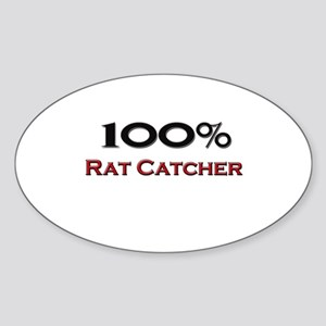 100 Percent Rat Catcher Oval Sticker