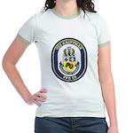 USS KAUFFMAN Jr. Ringer T-Shirt