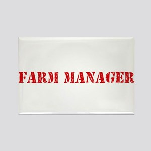 Farm Manager Red Stencil Design Magnets
