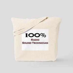 100 Percent Radio Sound Technician Tote Bag