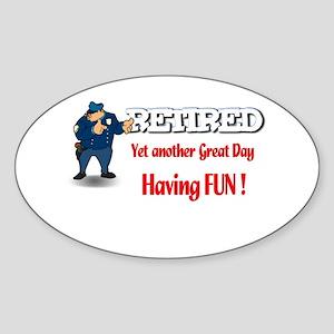 Cops are Tops. Oval Sticker