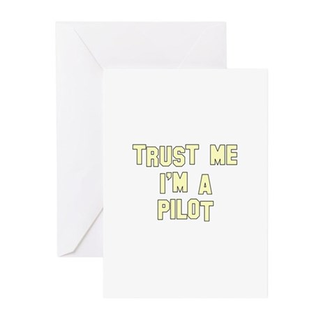Trust Me I'm a Pilot Greeting Cards (Pk of 10)