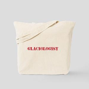 Glaciologist Red Stencil Design Tote Bag