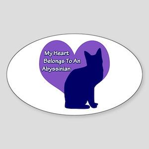 My Heart: Abyssinian Oval Sticker