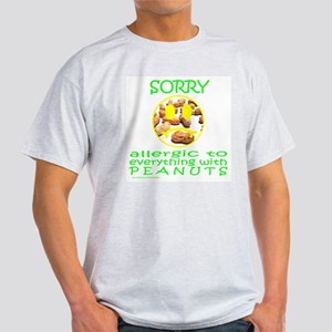 ALLERGIC TO PEANUTS Light T-Shirt