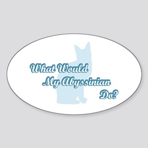 Abyssinian Blue Quote Oval Sticker