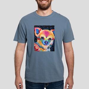 Neon Pomeranian or Chihuahua Portrait T-Shirt