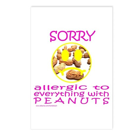 ALLERGIC TO PEANUTS Postcards (Package of 8)