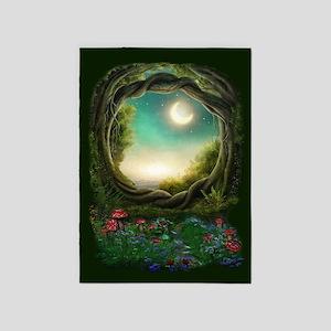 Enchanted Moon Tree 5'x7'Area Rug
